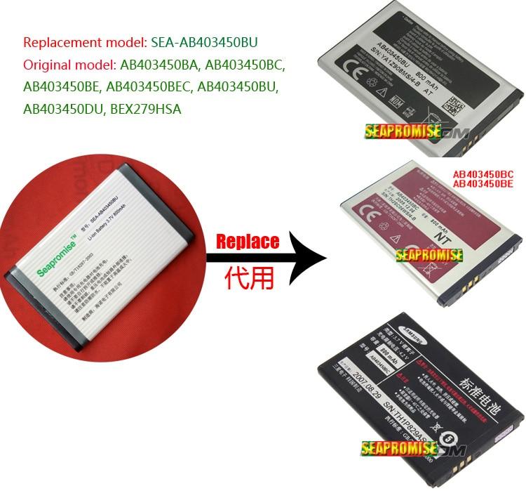 Retail AB403450BU Battery For SAMSUNG GT-E2510 GT-E2550,GT-M3510,GT-S3500,GT-S3500c GT-S3500i GT-S3550M,GT-S5050