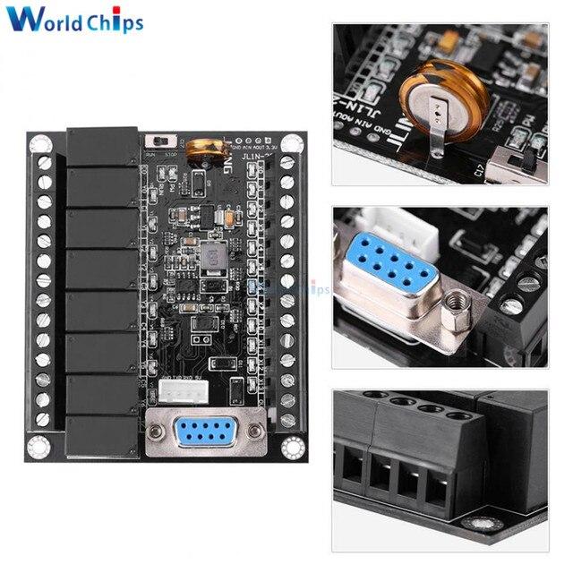 PLC programmable controller DC 24V PLC Regulator FX1N 20MR Industrial Control Board Programmable Logic Controller