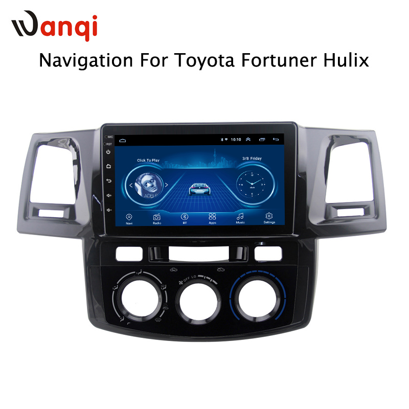 Android 8.1 2.5D Tempered HD Touchscreen 9 inch Radio for toyota Fortuner 2007 2015 with Bluetooth USB WIFI support SWC