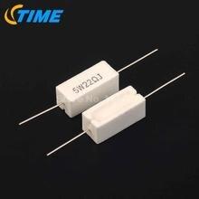 10 шт. 5 Вт 22R 22 Ом цемента резистор 5%