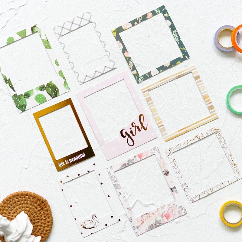 Lovedoki Planner Journaling Stickers Scrapbooking Decoration Stickers Small Fresh Photo Frame Series Paper Self Adhesive Sticker