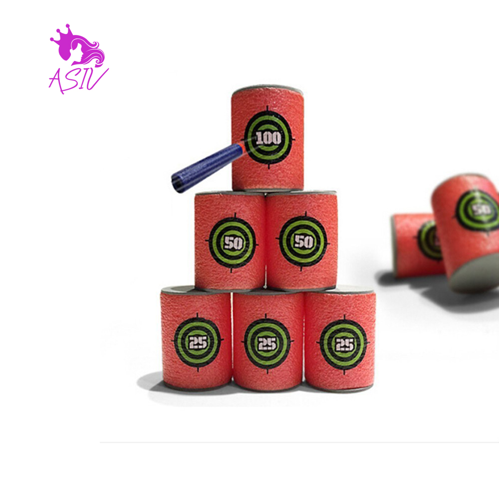 6pcs target bullet throw dart NERF target for NERF n-strike Elite game Blasters soft bullet Child magic toy gun attachment magic