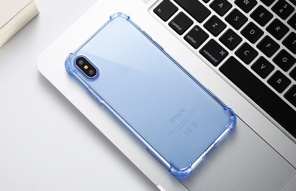 Anti-knock Clear Silicon Shockproof Cover with TPU iPhone Case 15