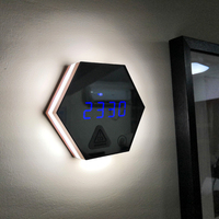 JULY'S SONG Wall Hanging LED Alarm Clock Digital Clocks Despertador Mirror Electronic Desktop Clock Night Light Timer Wekker