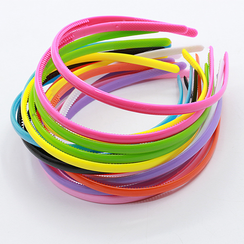 цены  8mm/4mm  High quality Plain Lady Plastic Headband  Teeth DIY Resin Headband Hair accessories Headwear hair band