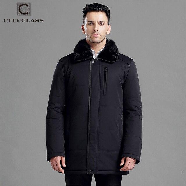 CITY CLASS зимняя куртка мужская новый толстая теплая зима куртки мужский пальто мода длинные верблюжья шерсть съемный воротник норка, парка с термометром, русский размер с 44-70 по заказу, классика деловой стиль 15918
