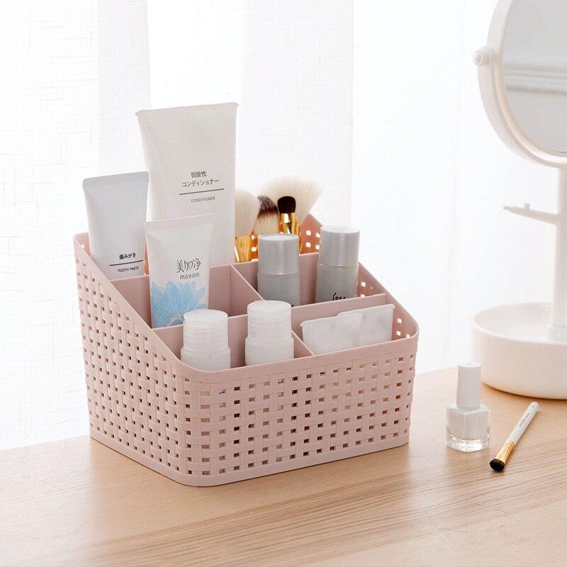 Home & Garden Msjo Makeup Organizer Desk Organizer Cosmetic Storage Box Remote Control Stationery Sundries Holder Lipstick Box Container Good Taste