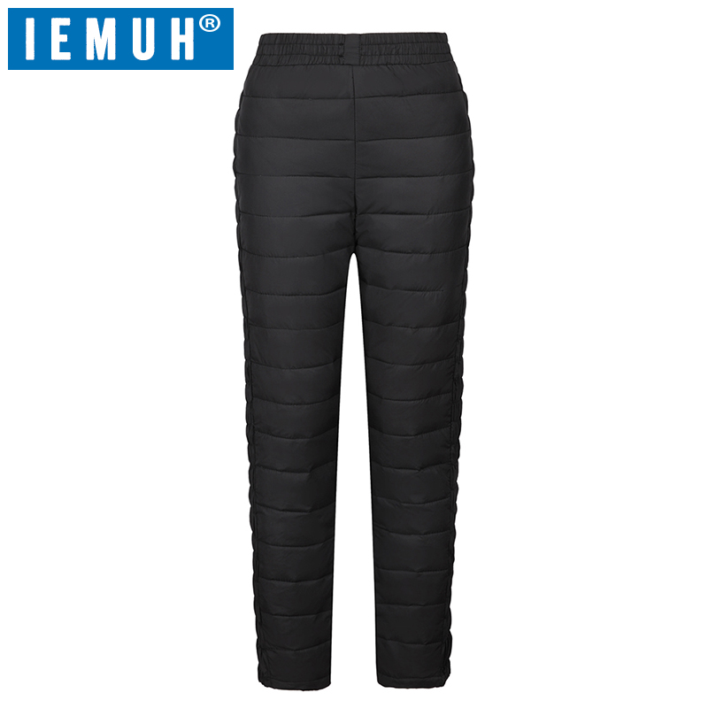 IEMUH Winter Women Duck Down Pants Trousers High Waist Outer Wear Female Casual Straight Warm Thick