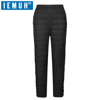 IEMUH Winter Women Duck Down Pants Trousers High Waist Outer Wear Female Casual Straight Warm Thick Pants Cold proof Trousers