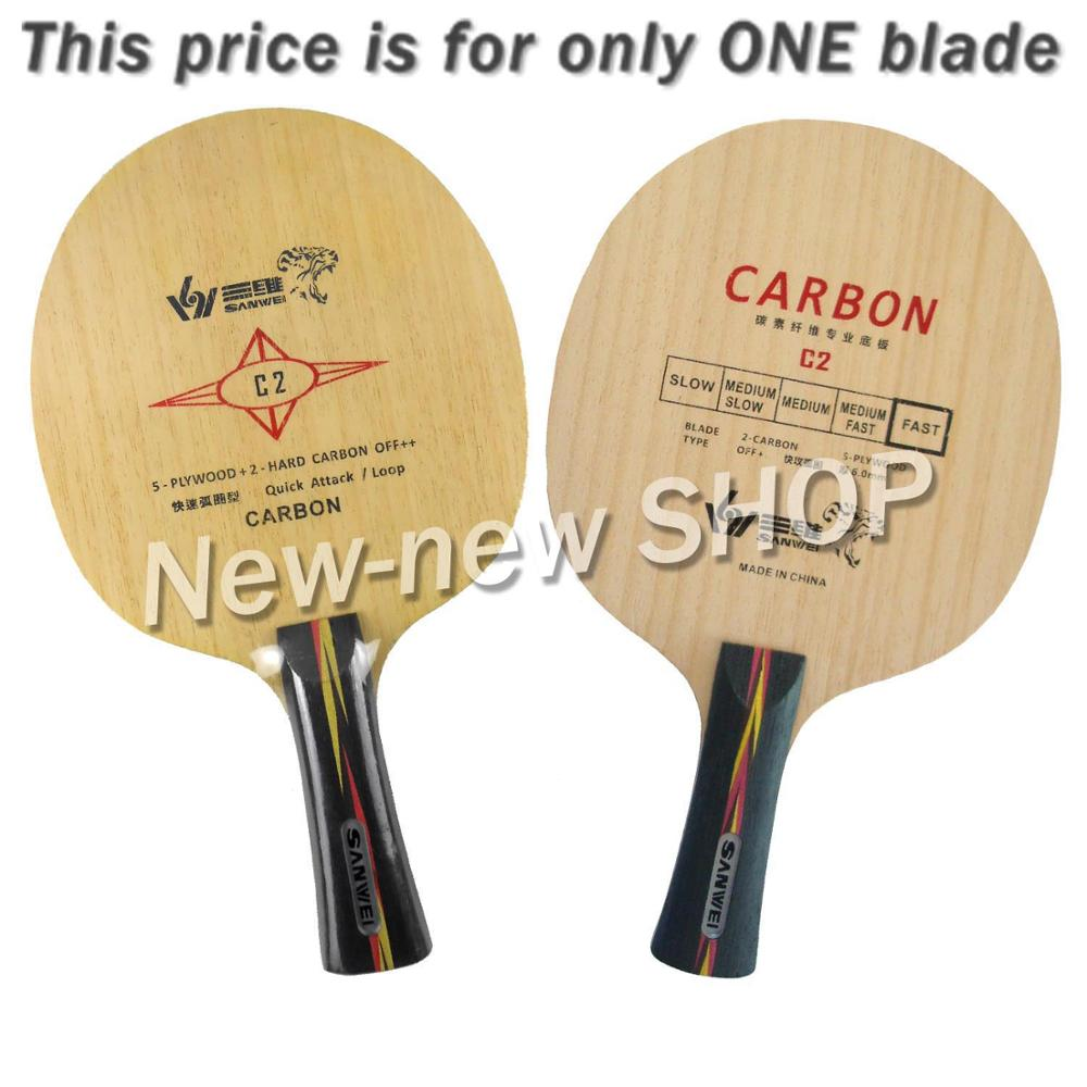 Sanwei Table Tennis Blade C2 C-2 C 2 Ping Pong Blade for Table Tennis Racket Paddle Racquet Sports Indoors Sports