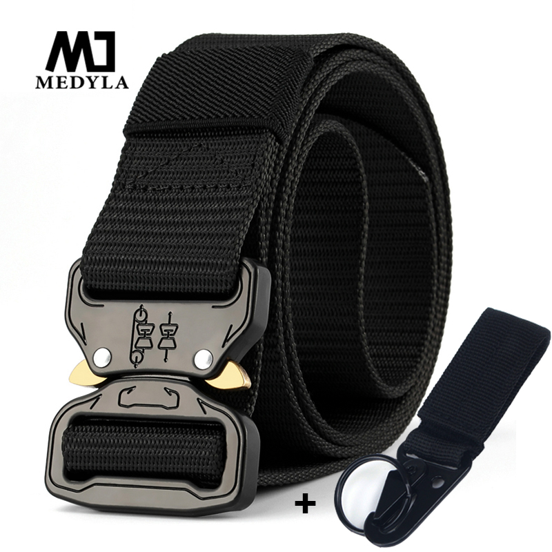 MEDYLA Military Equipment Men's Tactical Belt Quick Release Buckle Expansion Training Belt Mountaineering Accessories Hunting