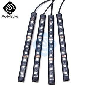 Image 4 - Couleur automatique dinterni rvb 9 Kit de bande LED contrôleur automatique de contrôle de musique sans fil 7 couleurs pour latmosphère