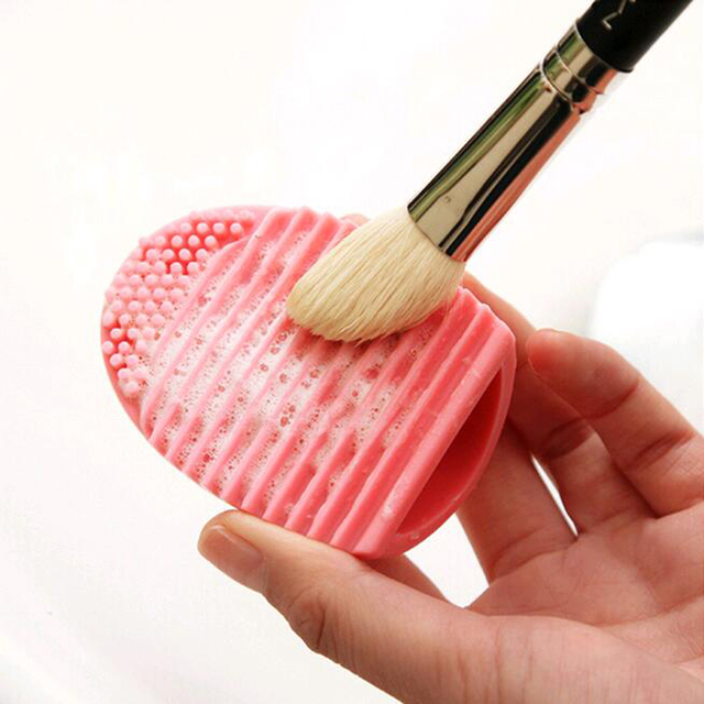 1 PC. 5 cores de silicone cosméticos limpeza lavagem escova Gel UV net scrubber ferramenta como uma base para o make-up para a limpeza NA25
