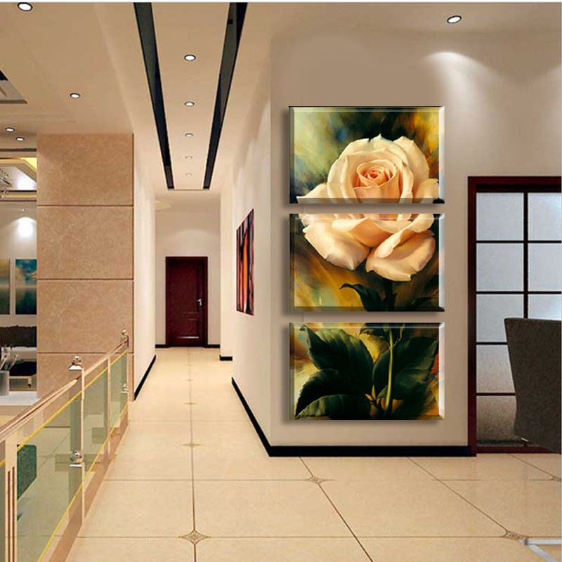 3 Pieces Modern Entrance Canvas Painting Unique Wall Pictures For