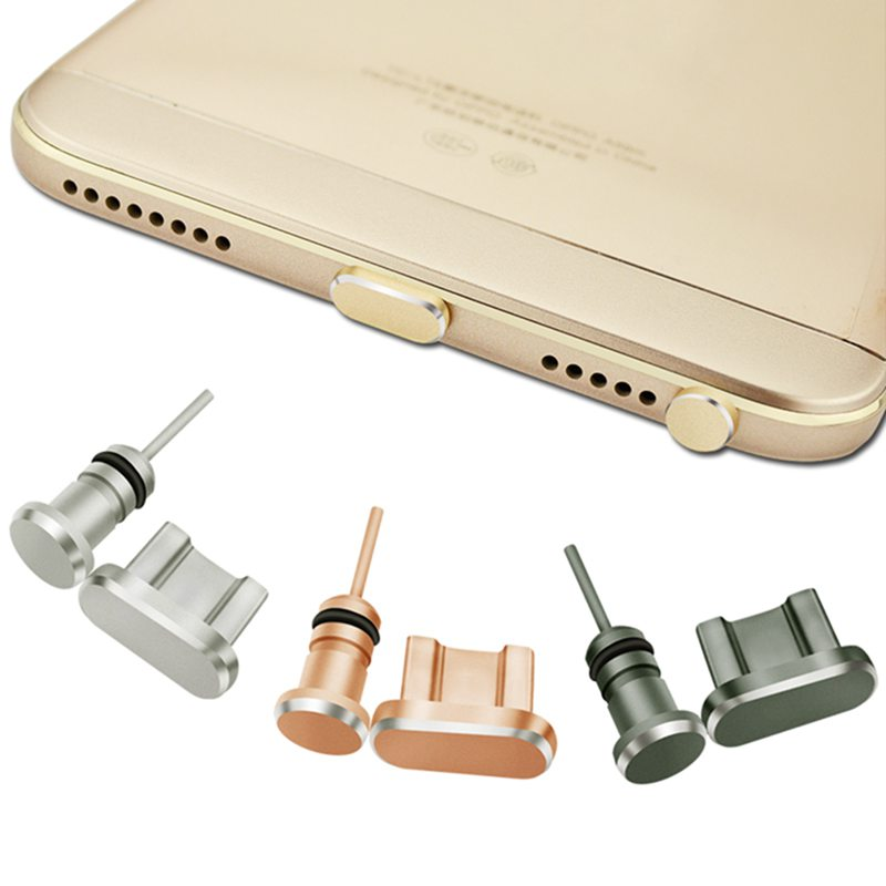 Universal Mobile Phone Dust Plug Micro USB Port+Earphone Jack Plug Hot Aluminum Sim Car id Smartphone for Sumsang for Huawei