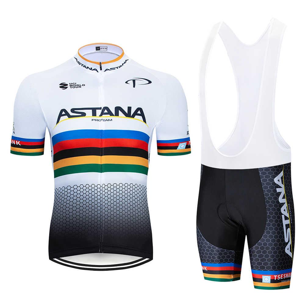Астана 2019 Велоспорт Джерси для мужчин's стильная, с короткими рукавами Спортивная одежда для велоспорта открытый mtb ropa ciclismo велосипед