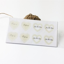 80pcs/lot Romance Vintage Lace Transparent Gilding Heart Style Sealing Label Sticker for love Gifts Posted Baking Decoration