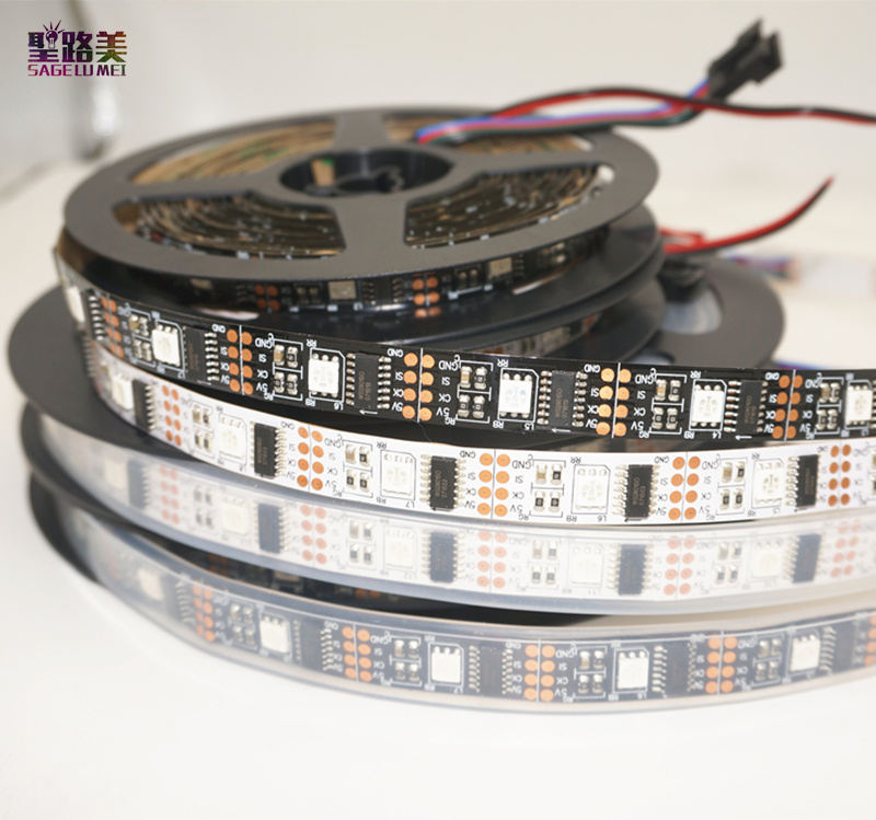 1 mt/3 mt/5 mt DC5V WS2801 Adressierbare 32 leds/m Arduino entwicklung ambilight TV Traum farbe 12mm 5050 RGB LED Streifen weiß/schwarz PCB