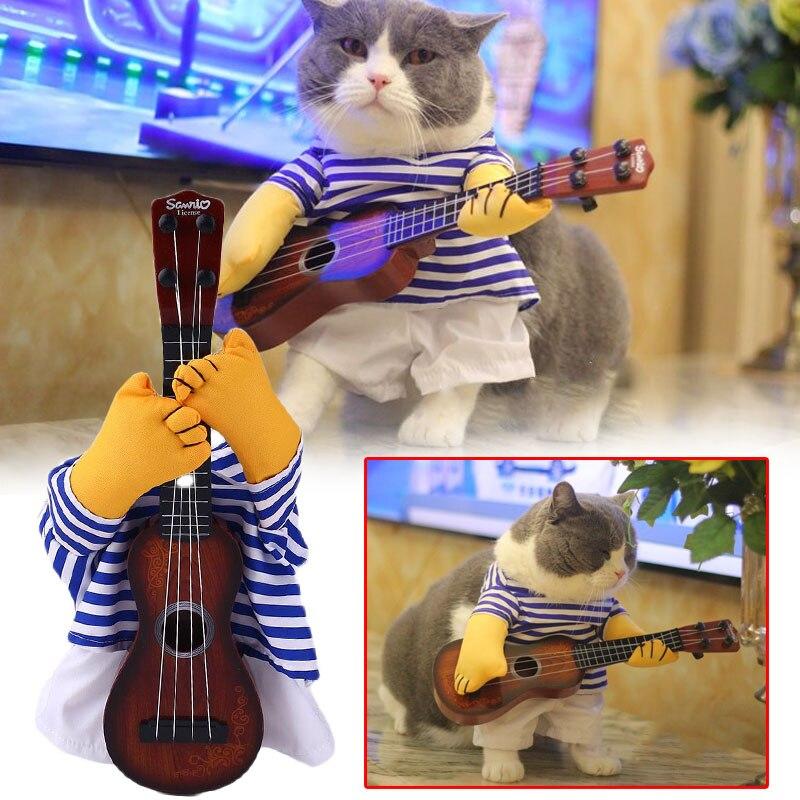 Одежда для домашних животных, гитарный костюм для переодевания, нарядное платье для домашних животных, вечерние платья