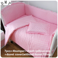 Discount! 6/7pcs baby sheet Children bedding sets 100% cotton baby nursery bedding,120*60/120*70cm