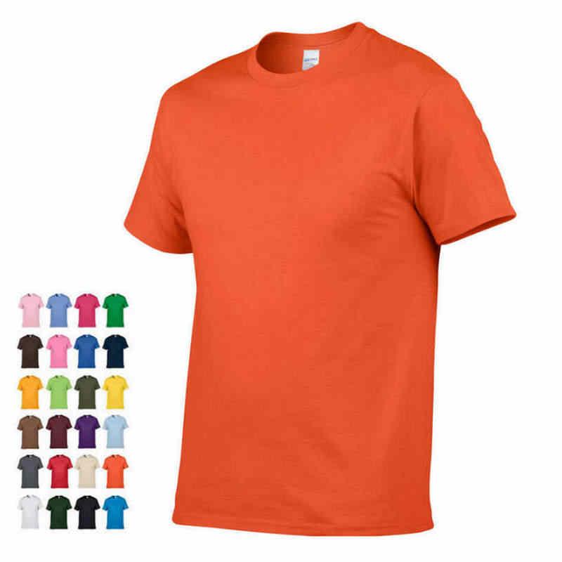 2019 yaz Yeni Yüksek kaliteli erkek T shirt gündelik kısa kollu o-boyun % 100% pamuk T-shirt erkek marka beyaz siyah tee gömlek