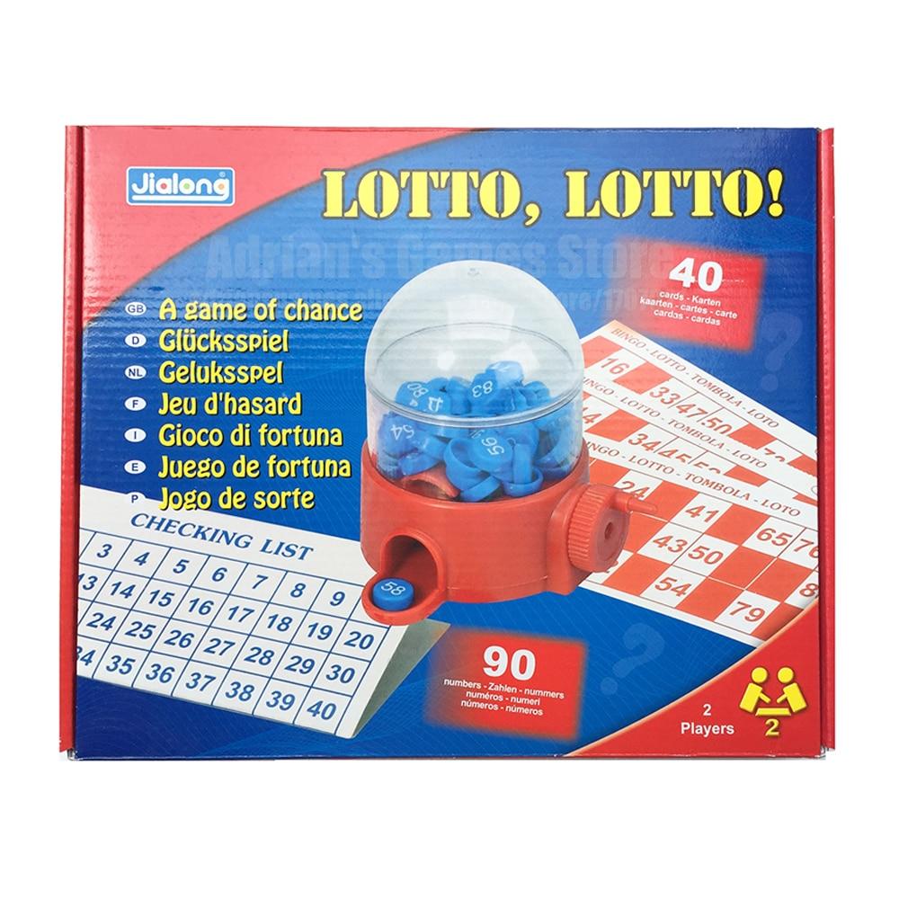 LOTTO Bingo Draw Machine Lotto Bingo Lottery Board Games Tombola Lottery Machine Bingo For Family And Children Jeu De Societe