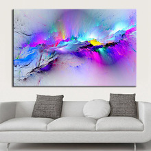 Dream home personality creative color decoration canvas painting hd spray living room