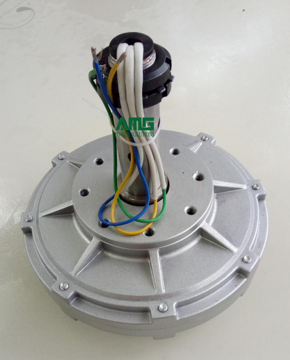 100W 130 200 300 500RPM 12 24 48VDC Low RPM Low Start Torque Vertical Alternator inner