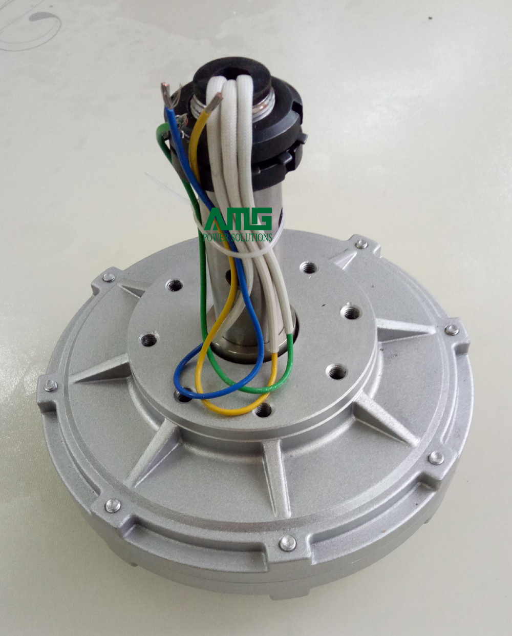100W 130/200/300/500RPM 12/24/48VDC Low RPM Low Start Torque Vertical Alternator, inner/outer rotor, double shaft optional