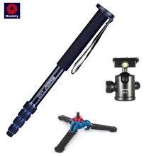 Manbily A 222 alüminyum fotoğraf standı dijital SLR kamera Monopod ek baz & Ball Head yüksek kaliteli kamera tripodu