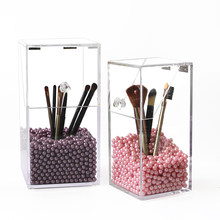 Mordoa Crystal Plastic Makeup Organizer Storage Box For Make Up Brush Cosmetic Storage Organizer Holder Display Container Case(China)