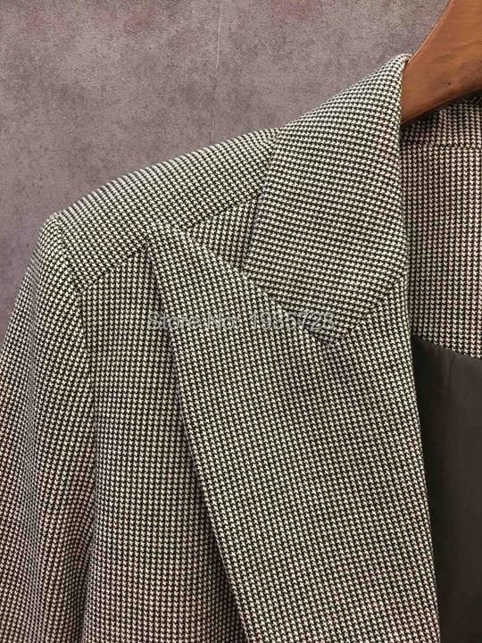 Tweed De Blazer Entaillé Autour Wrap Ruffle Manches Caractéristiques Élégant As Bouton dames Pic Color Longues Avec 2018 Femmes Patchwork Un Plaid qOfxFIpw