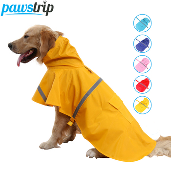 Pawstrip XS-3XL Large Dog Raincoat Waterproof Dog Clothes Labrador Husky Safety Reflective Dog Coat Puppy Dog Rain Clothing 1