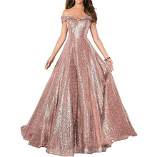 2019 Sequined Lace Maxi Dresses Slash neck wine red  Floor Length Party Sexy Dress Long Gown Off The Shoulder