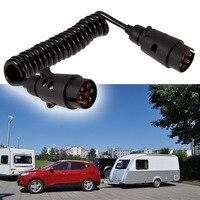 Professional 7 Pin Car Towing Trailer Cable Spring Trailer Couplings Circuit Plug Socket Tester Car