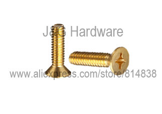 M4 Brass Machine Screw Countersunk Head Flat headM4 Brass Machine Screw Countersunk Head Flat head