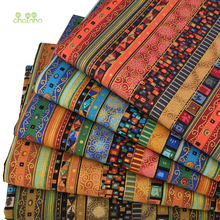 Chainho,5pcs/Lot,Zakka Bronzing Style,Printed Cotton Linen Fabric For DIY Quilting&Sewing Sofa,Table Cloth,Bag,Material,50x50cm