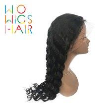 WoWigs человеческие волосы на кружеве парики глубокие волнистые волосы натуральные волосы предварительно сорванные глубокие Кудрявые Волнистые волосы на фронте al парики