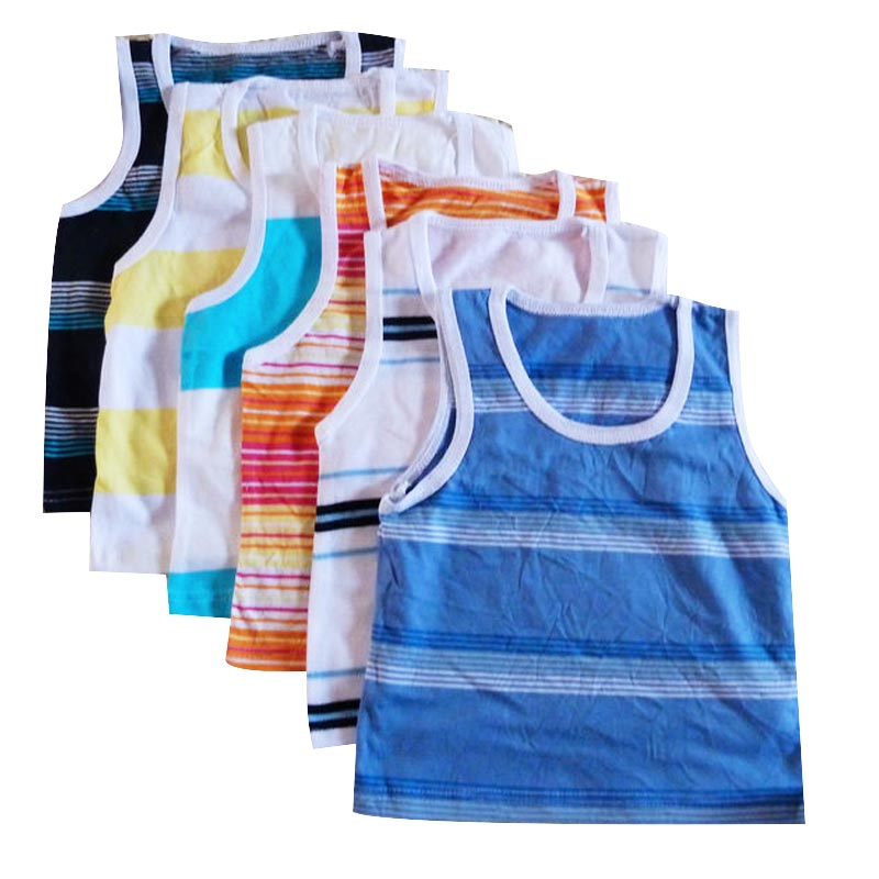 2017 New Fashion Newborn Baby Striped Vest Children Boys Girls Sleeveless Cotton Vest T-shirt Kids Tops Clothes