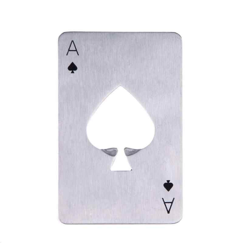 1 sztuk otwieracz do butelek otwieracz do butelek ze stali nierdzewnej otwieracz do piwa karty do gry w pokera pik butelka otwieracz do butelek akcesoria barowe akcesoria kuchenne