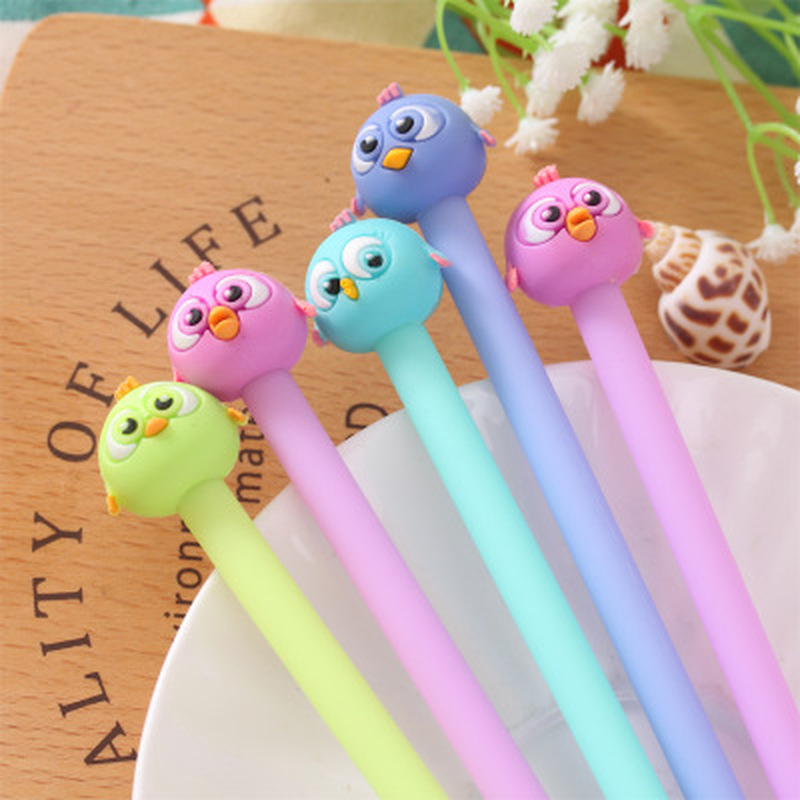 1pcs Bird Gel Pen Stationery Cute Pen 0.38mm Kawaii Cartoon Gel Pens Kawaii School Supplies Cute Pens And Pencils Stationery