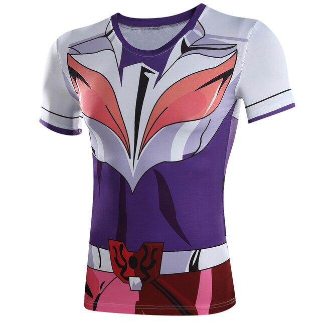 2016 New Summer Men T Shirts Pokemon Saint Seiya Saint Phoenix Ikki Tee Cosplay Costume Summer Style Short Sleeve Tracksuit 4XL