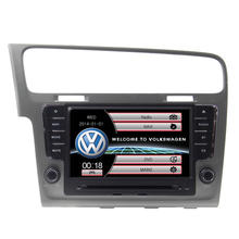 For Volkswagen VW Golf 7 With Car Dvd Player audio navigation Free Map Free Shipping multimedia Bluetooth Steering Wheel Control