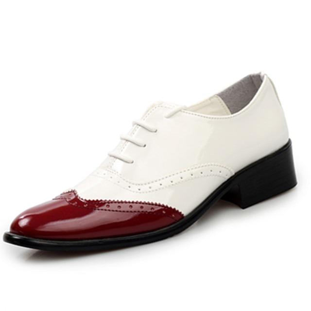 del zapatos otoño moda blanco negro de del hombres hombre 2015 zapatos resorte zapatos charol vestir TEqSIXw5