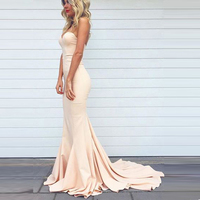 BeryLove Simple Mermaid Blush Pink Evening Dresses Long Sweetheart Evening Gowns Plus Size Cheap Women Prom Party Dresses