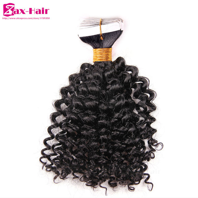 Kinky Curly Tape Hair Extensions Top Quality Hair In Extension Tape