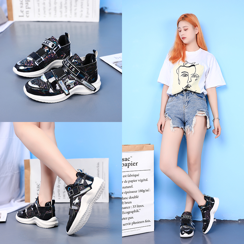 Nouveau miroir marée chaussures femmes baskets de luxe chaussures femmes designers plate-forme haute super chaussures décontractées femmes paillettes baskets - 4