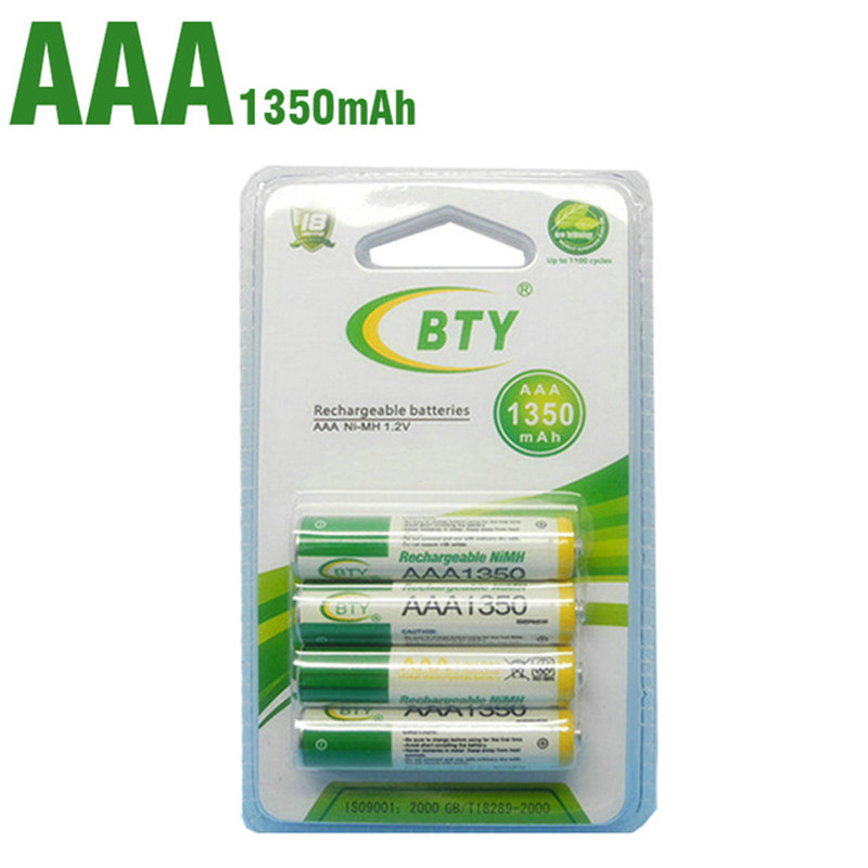 Bty AAA 1350 Bateria Recargable De Ni-mh Para La Linterna Del LED/Juguete/pda-B 4 /2/8unids/lote 1350Mah Lighting Torch Battery