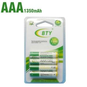 Bty AAA 1350 bateria recargable de ni-mh para la linterna del LED/Juguete/pda-B 4 /2/8unids/lote 1350Mah Lighting Torch Battery