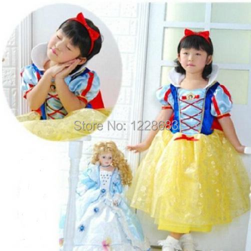 Fantasia Infantil Princesas Princesa Branca de Neve Costume Party Girl  Dress Crianças Vestido Para meninas Fantasias 0129bc5e64d